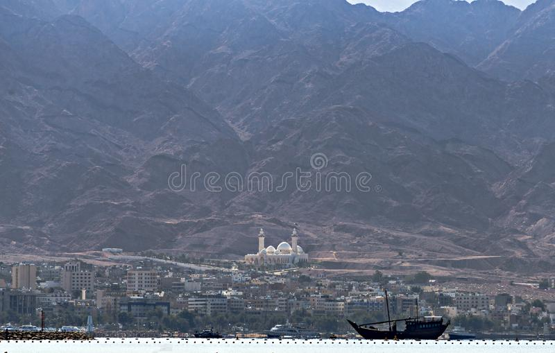 The biggest Jordanian mosque royalty free stock photo