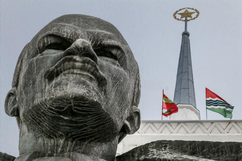 Biggest Lenin Bust in Soviet Union royalty free stock photos