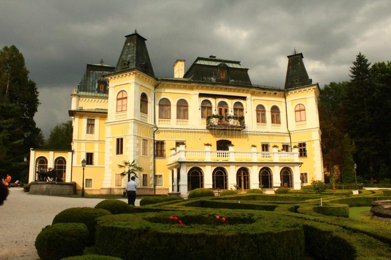 Andrassy castle in Slovakia. The biggest and the most famous castle royalty free stock photo