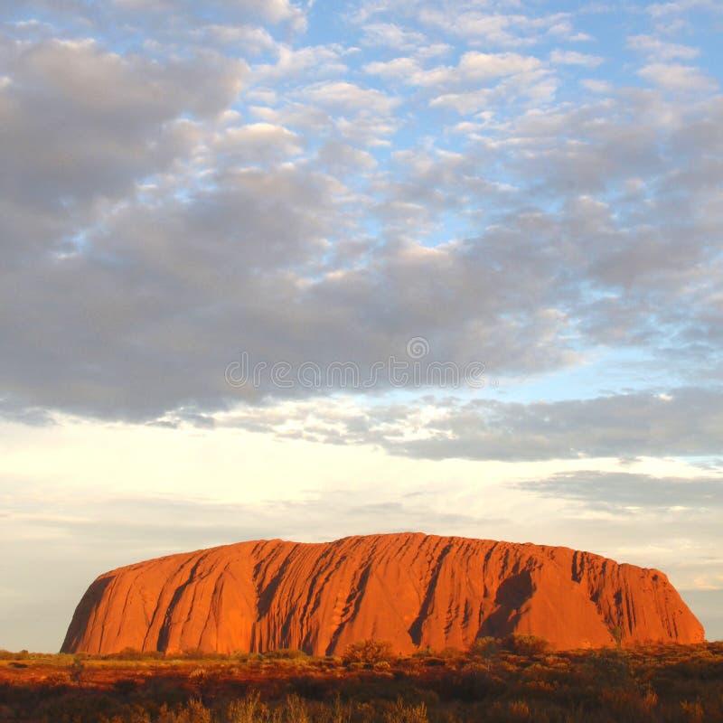 Uluru Ayers Rock (Unesco), wonders of the world, Australia stock image