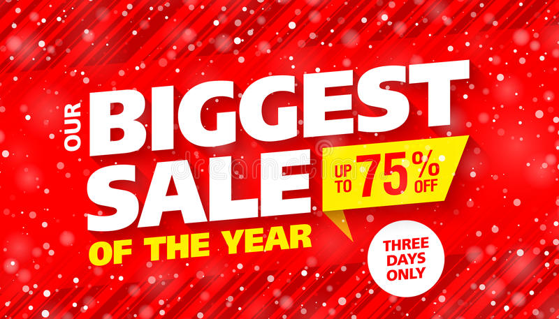 Biggest sale of the year royalty free illustration