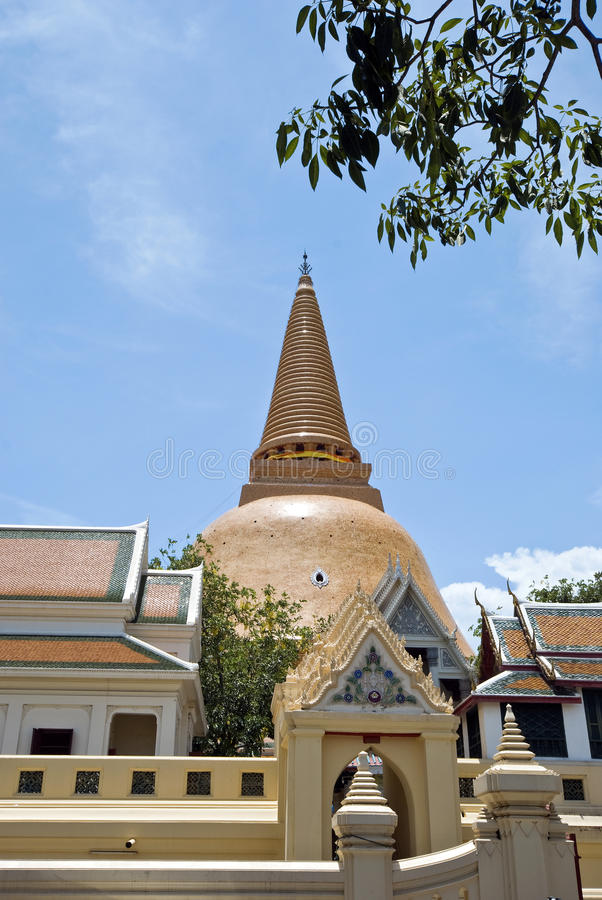 Download Biggest stupa in Thailand stock image. Image of peaceful - 24369587