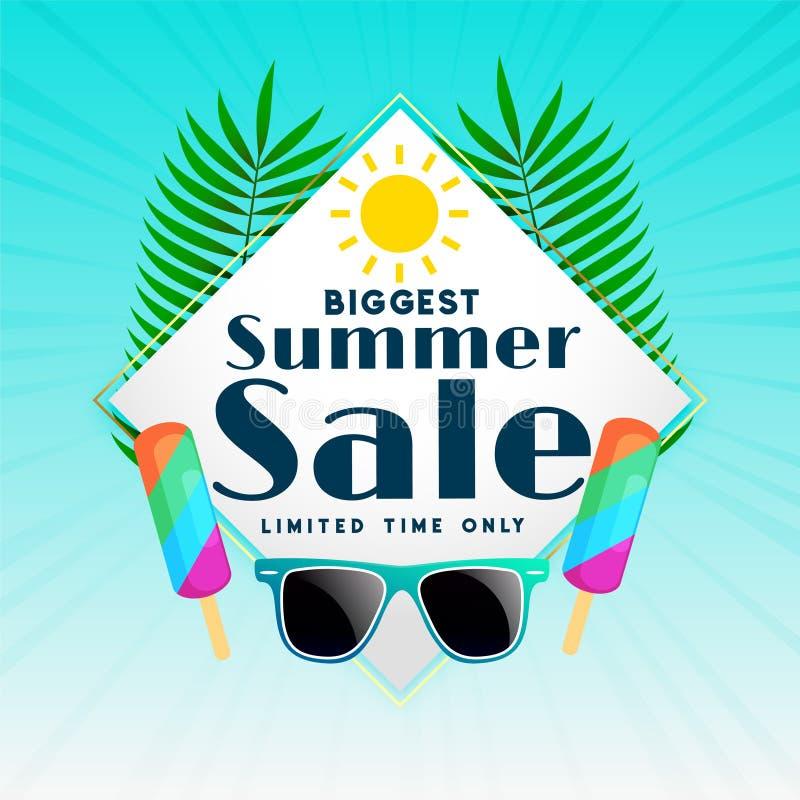 Biggest summer sale background design stock illustration