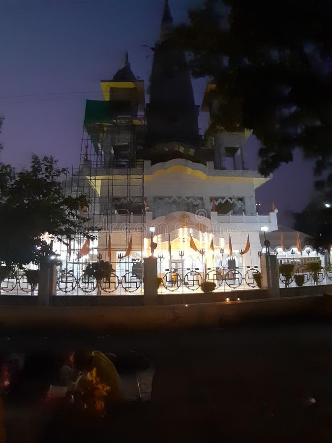 Biggest temple in meerut city india. This is the biggest temple in meerut u.p india stock image