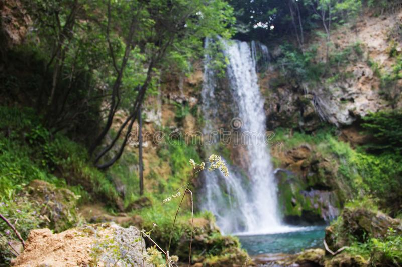 Biggest waterfall in Serbia, called `Veliki Buk`, near Despotovac city, Eastern Serbia royalty free stock images