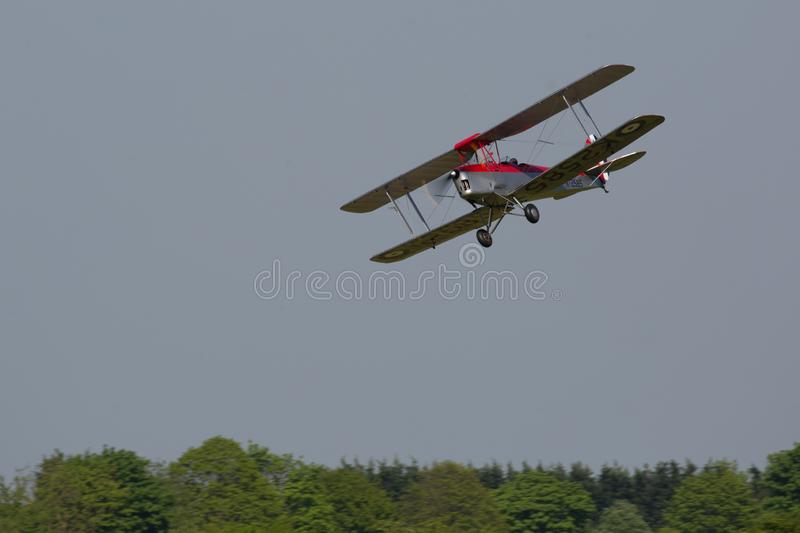 1931 DH82A Tiger Moth, Vintage aircraft stock images