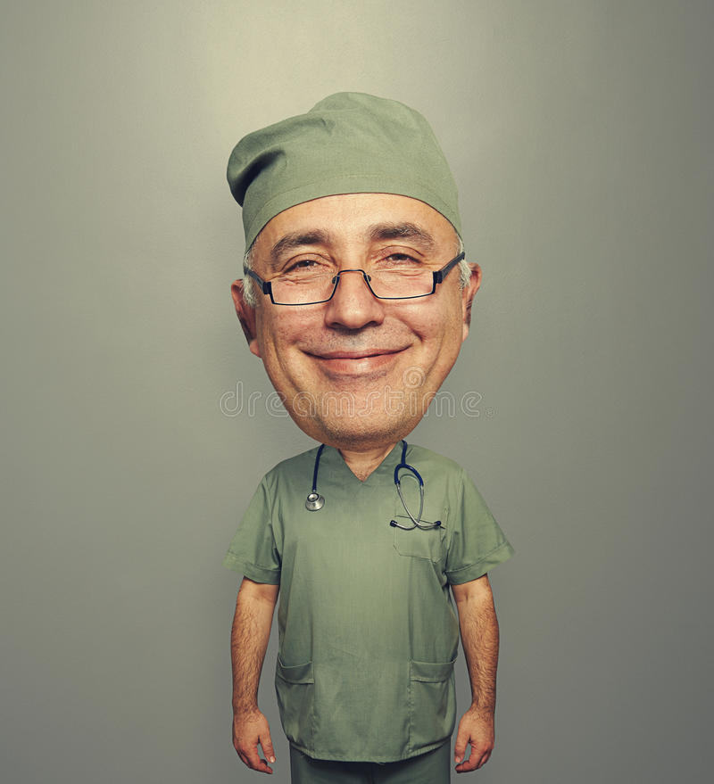 Download Bighead Glad Doctor In Glasses Stock Photo - Image: 35124138