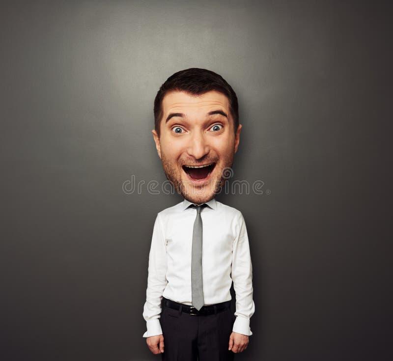 Bighead szczęśliwy mężczyzna fotografia royalty free