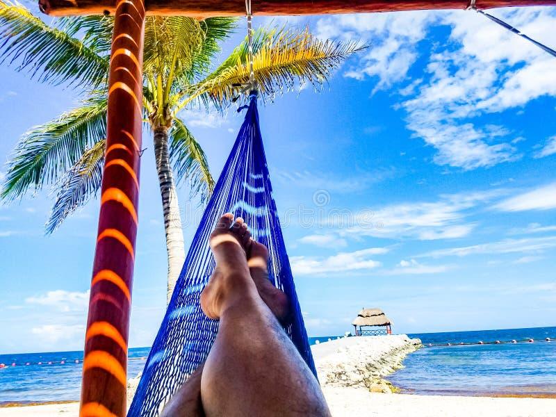 Bighellonando su una bella spiaggia immagini stock libere da diritti