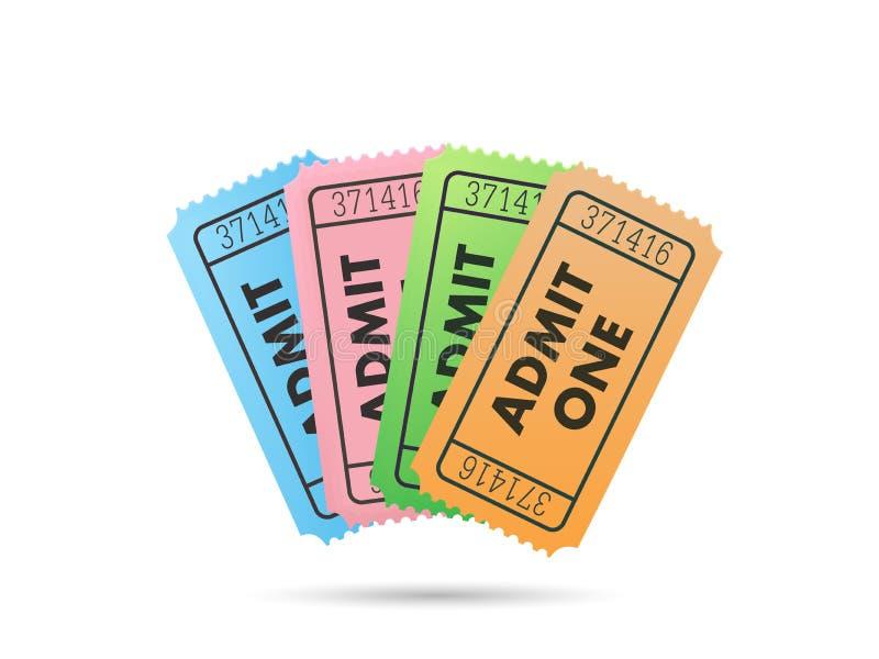 biglietti illustrazione vettoriale