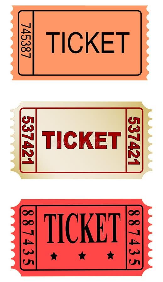 Biglietti royalty illustrazione gratis