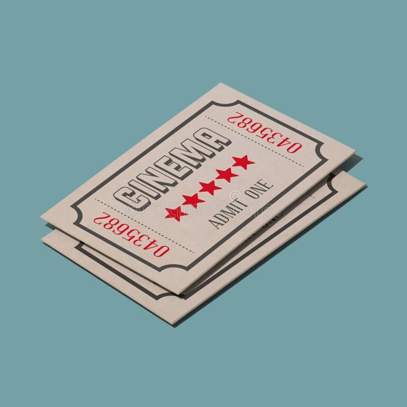 Biglietti d'annata di film illustrazione vettoriale
