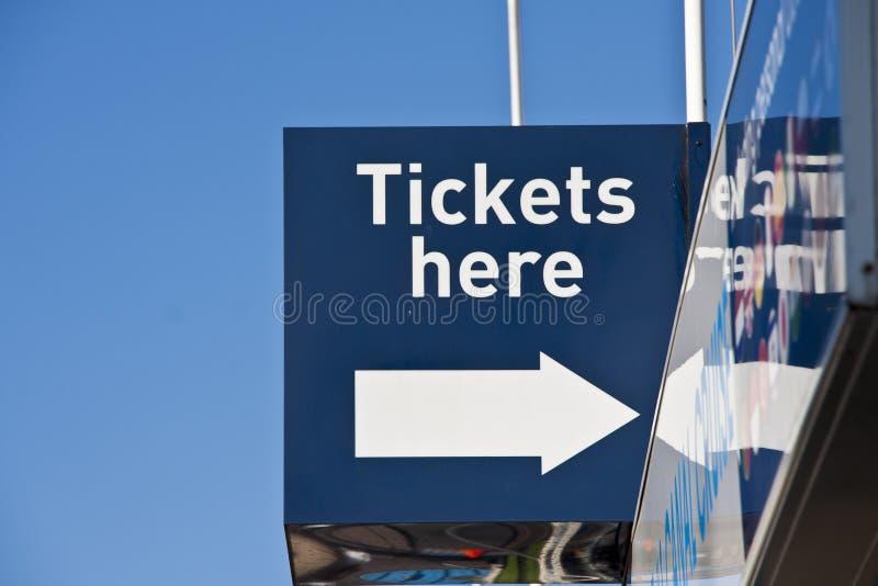 Biglietti da vendere fotografie stock libere da diritti