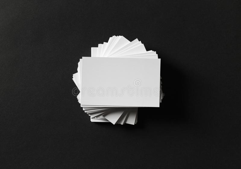 Biglietti da visita bianchi fotografia stock libera da diritti