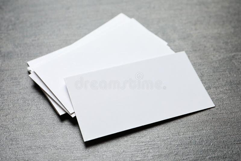 Biglietti da visita in bianco immagini stock libere da diritti
