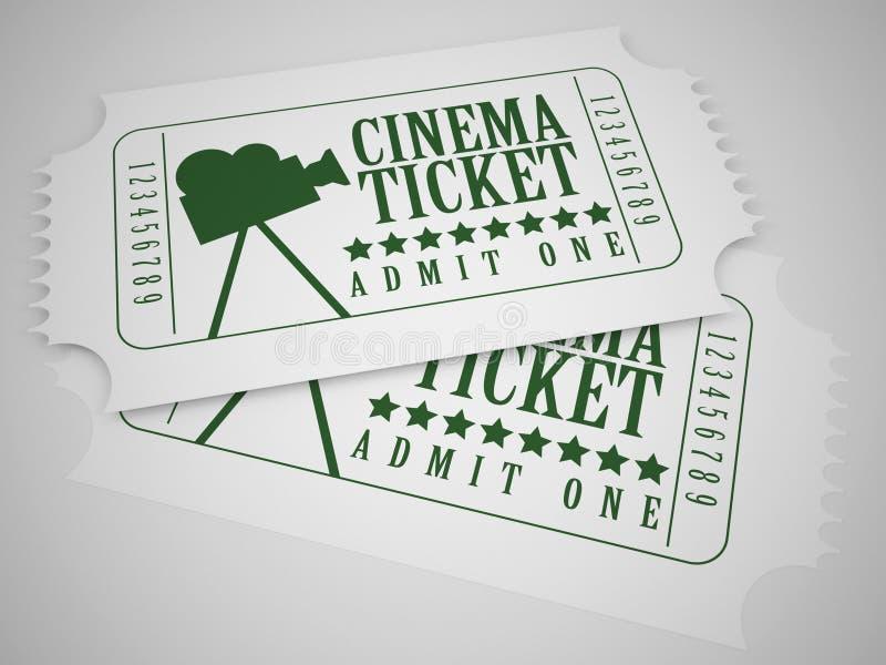 Biglietti del cinema royalty illustrazione gratis