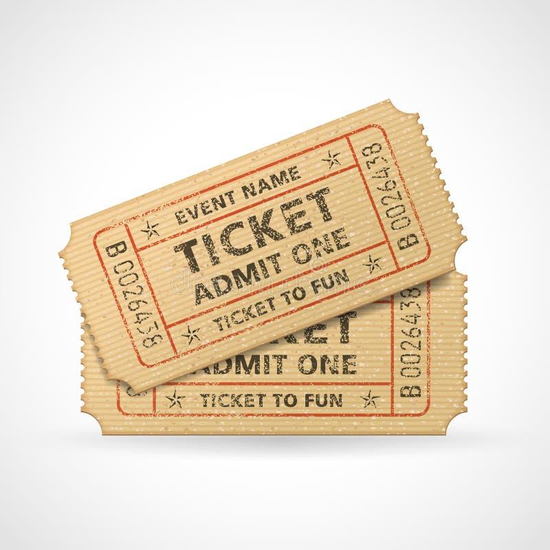 Biglietti del cinema di lerciume di vettore illustrazione di stock