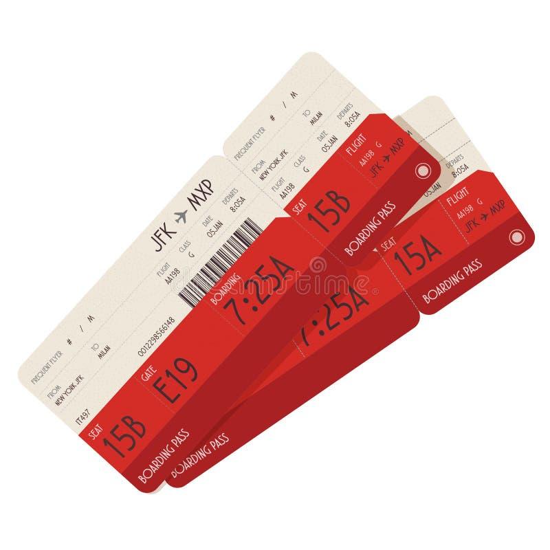 Biglietti del passaggio di imbarco illustrazione di stock
