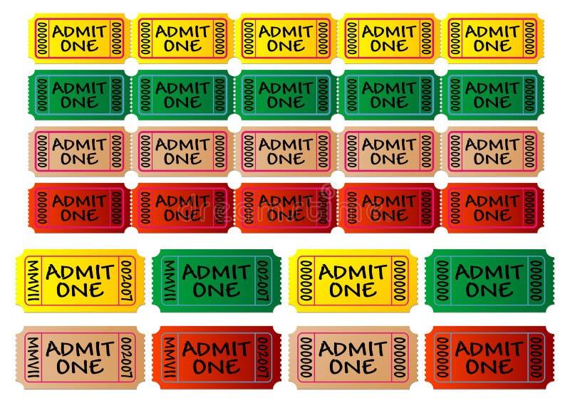 Biglietti di film illustrazione vettoriale