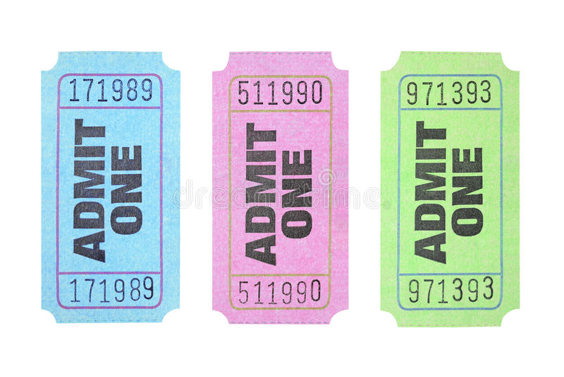 Biglietti di ingresso immagini stock