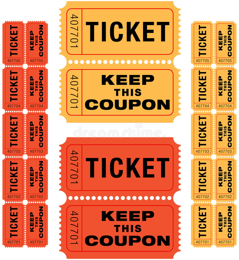 Biglietti di Raffle royalty illustrazione gratis