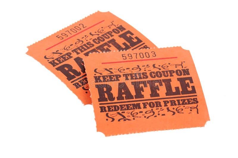 Biglietti di Raffle fotografia stock libera da diritti