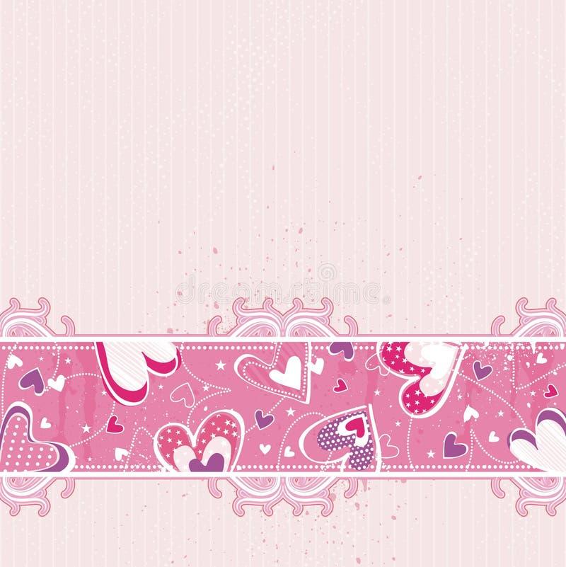 Biglietti di S. Valentino dentellare priorità bassa, vettore royalty illustrazione gratis