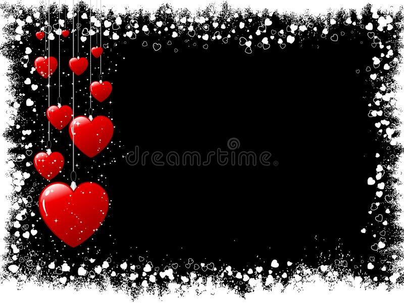 Biglietti di S. Valentino di Grunge royalty illustrazione gratis