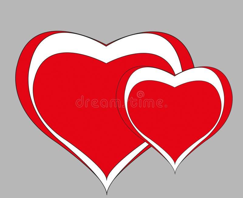 Biglietti di S. Valentino felici fotografia stock