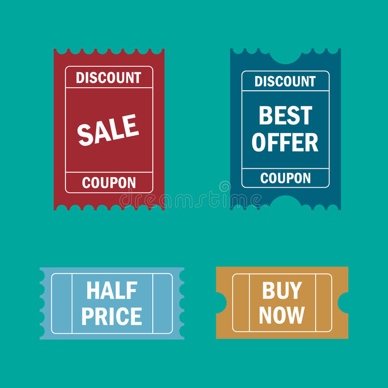 Biglietti di vendita Prezzo del buono, promozione royalty illustrazione gratis