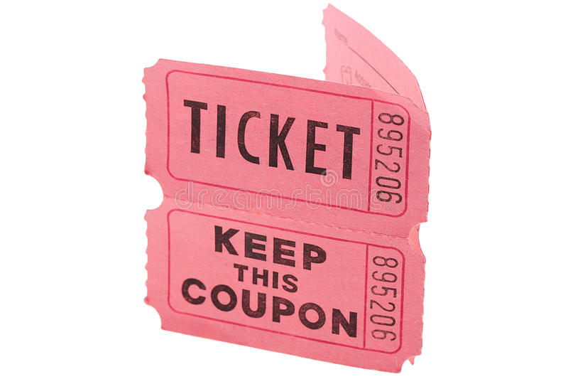 Biglietti e buono fotografia stock