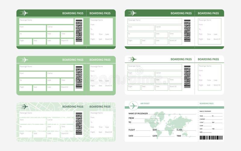 Biglietti messi verdi royalty illustrazione gratis