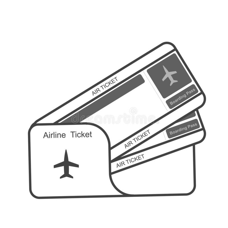 Biglietti moderni del passaggio di imbarco di viaggio di linea aerea due royalty illustrazione gratis