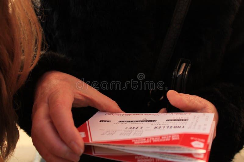 Biglietti per il musical/altro fotografia stock libera da diritti