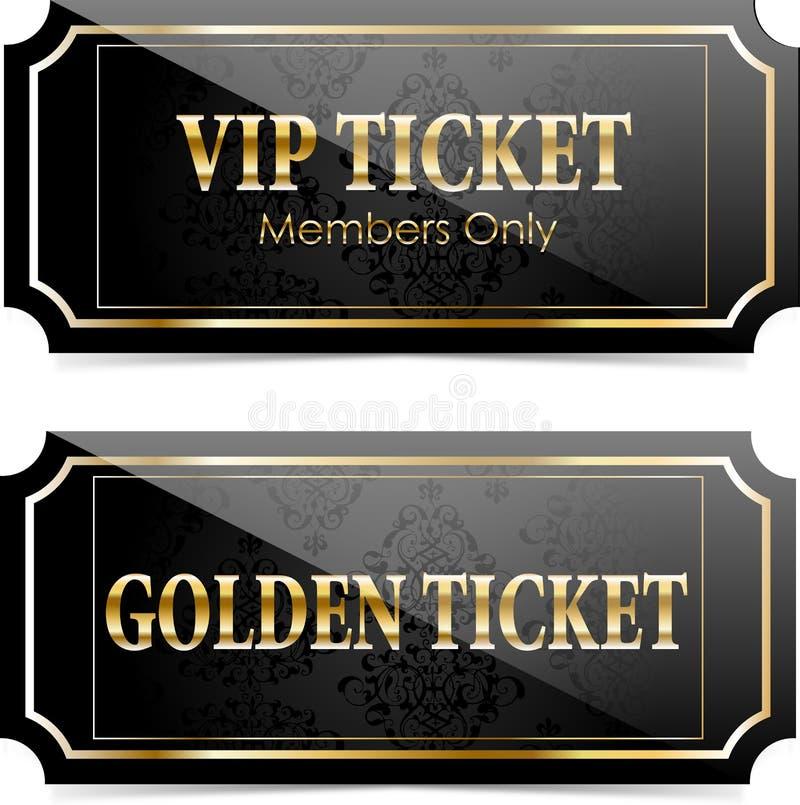 Biglietti premio di VIP illustrazione di stock