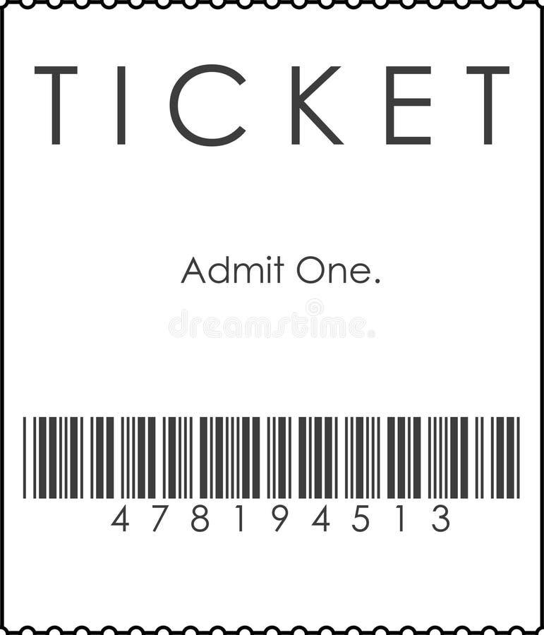 Biglietto con il codice a barre fotografie stock