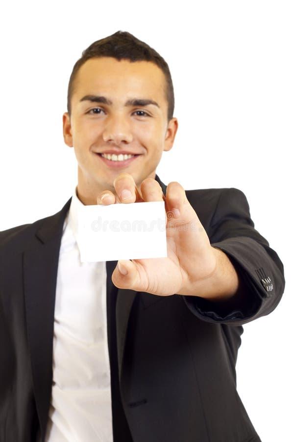 Biglietto da visita in bianco fotografie stock