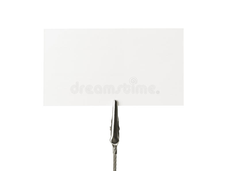 Download Biglietto Da Visita In Bianco Immagine Stock - Immagine di clip, scheda: 21550303
