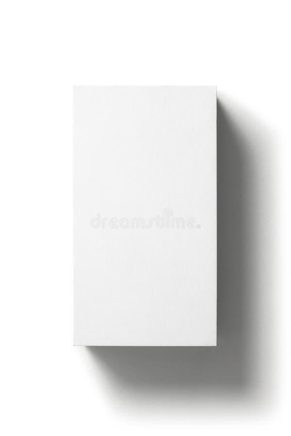 Biglietto da visita in bianco isolato su fondo bianco immagine stock