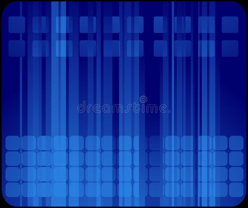 Biglietto da visita blu astratto illustrazione di stock