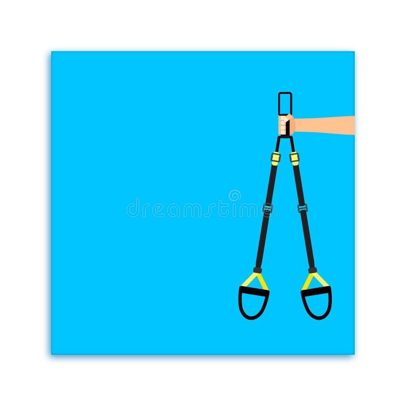 Biglietto da visita di sport per addestramento personale di forma fisica royalty illustrazione gratis