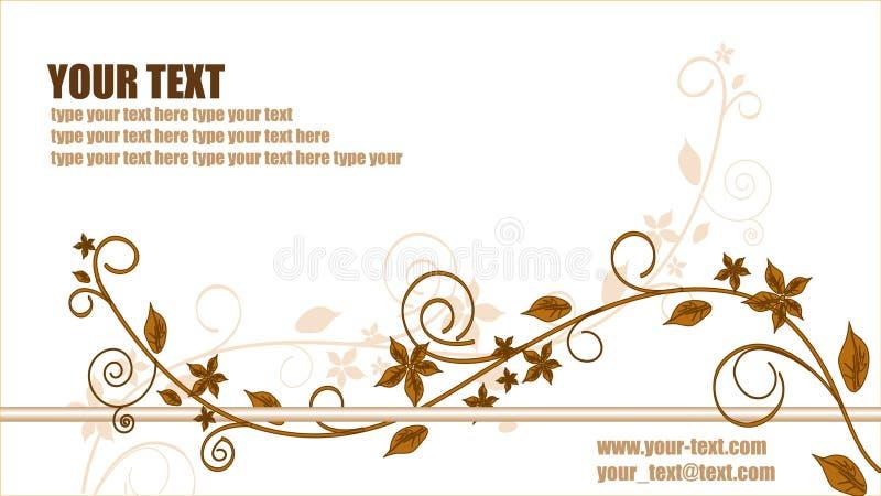 Biglietto da visita floreale astratto. illustrazione di stock