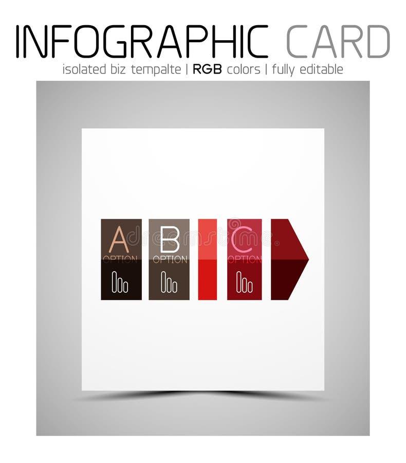 Biglietto da visita infographic di forma geometrica illustrazione vettoriale