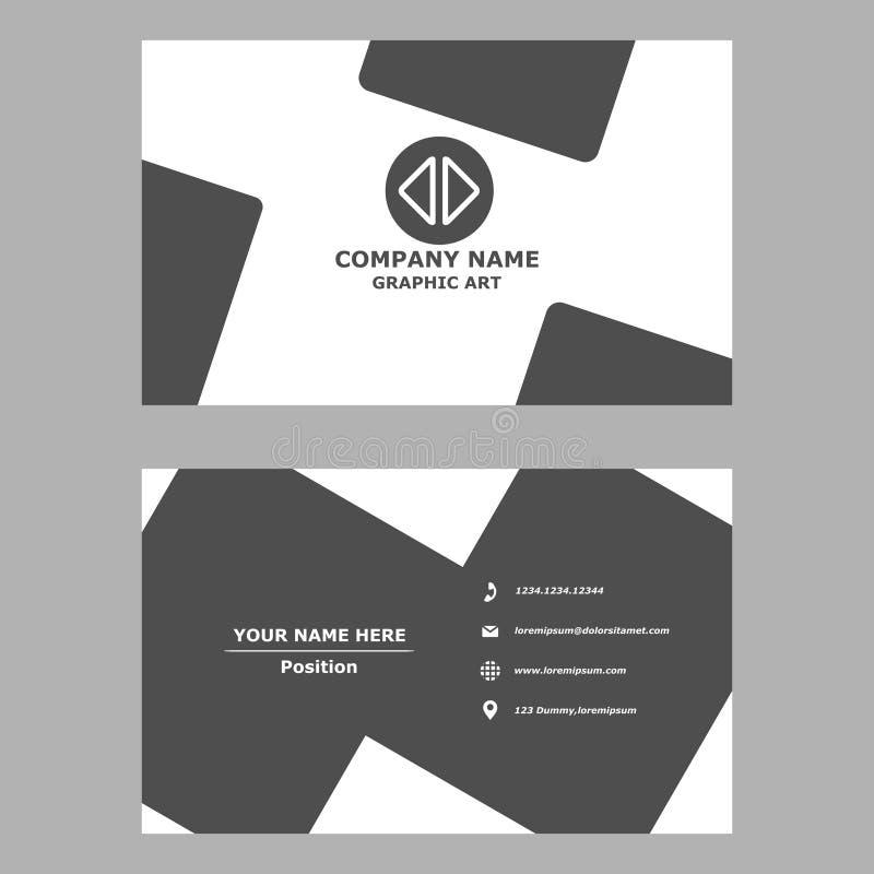 Biglietto da visita moderno modello pulito di progettazione per professionale, personale e la società immagini stock