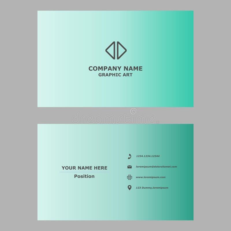 Biglietto da visita moderno modello pulito di progettazione per professionale, personale e la società fotografia stock