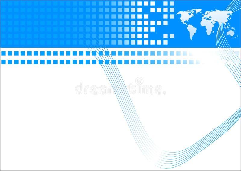 Biglietto da visita nel colore blu illustrazione vettoriale