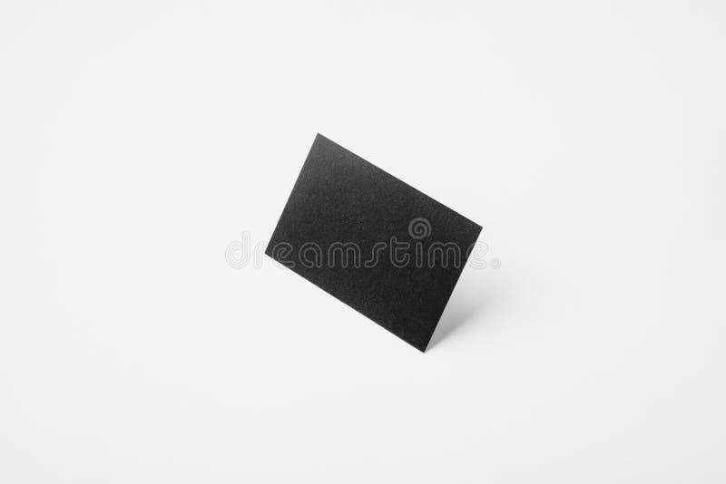 Biglietto da visita nero in bianco di identità con chiaro fondo bianco immagini stock libere da diritti