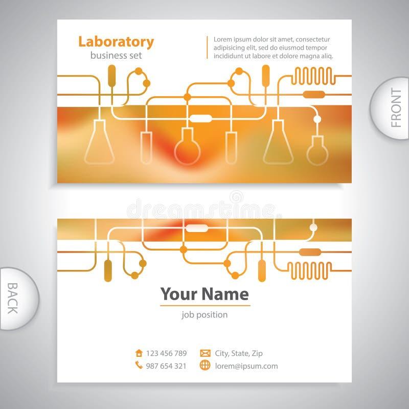 Biglietto da visita - scienza e ricerca - fondo del laboratorio illustrazione vettoriale