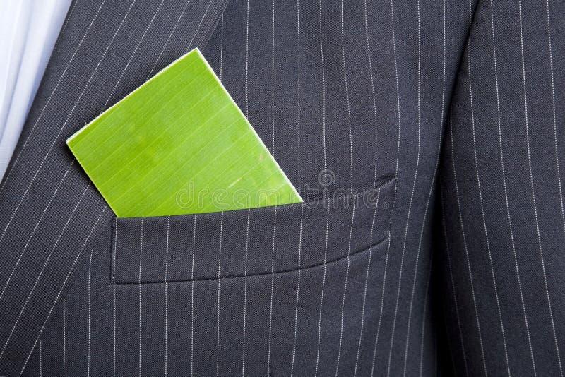 Biglietto da visita verde fotografia stock libera da diritti