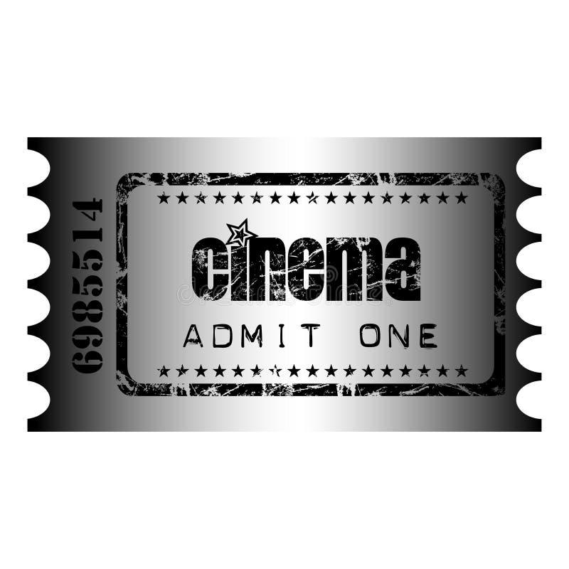 Biglietto del cinematografo illustrazione di stock
